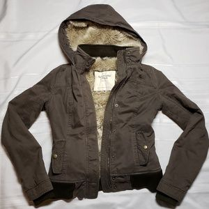 Abercrombie & Fitch Faux Fur Jacket